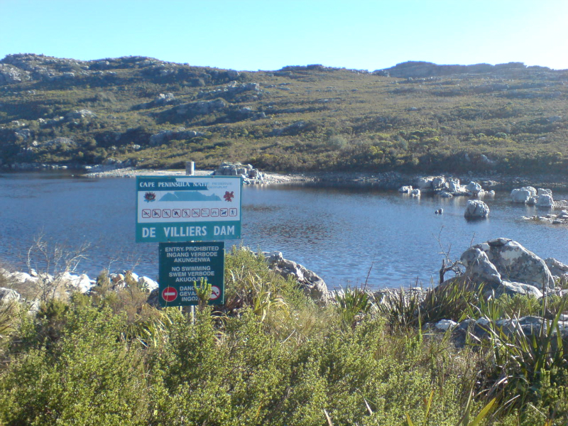 Devillier's Dam on top of Table Mountain